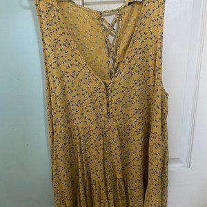 American Eagle Yellow Peasant Tank